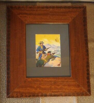 The Rio Kid Western Jerome or George Rozen Winter 1944 Pulp Cover Oil Painting