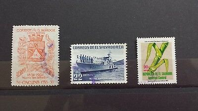 3 Briefmarken El Salvador
