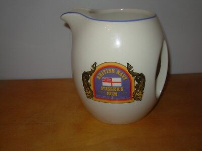 British Navy Pusser's Rum Ceramic Pub Jug - Wade Pottery - Made In England