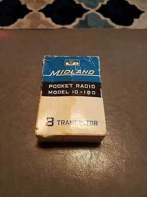 Vintage Midland Pocket Radio Model 10-180 8 Transistor