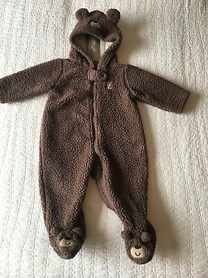 Carters Baby 6 Months Warm One Piece Snowsuit Outerwear Coat Boy Girl  EUC