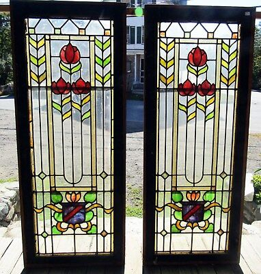 PR of ANTIQUE ARTS AND CRAFTS STAINED GLASS WINDOWS
