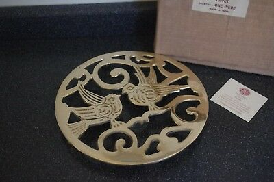 Past Times Victorian Style Brass Trivet Teapot Stand