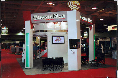 Ultimate trade show booth, double deck meeting area, includes semi trailer