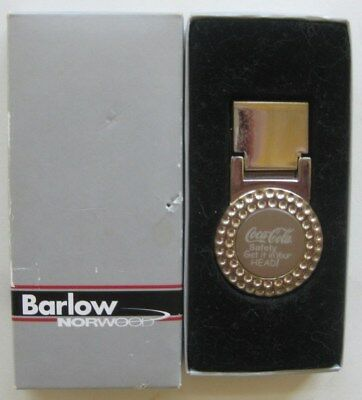 """Coca Cola """"Safety Get it in Your Head!"""" Money Clip by Barlow"""