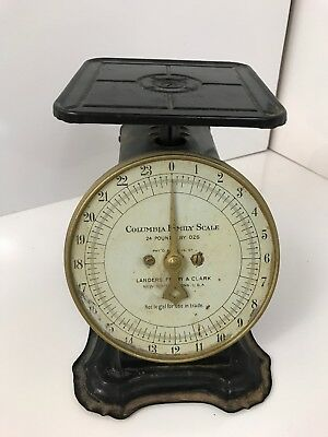 Scale Antique Columbia Family Scale Landers Frary & Clark 24 Pounds  Pat 1907