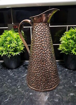 Antique copper pitcher in superb condition , back stamped from makers , see phot