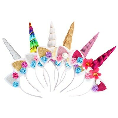 Magical Unicorn Horn Head Kids Headband Fancy Dress Cosplay Party Decorative