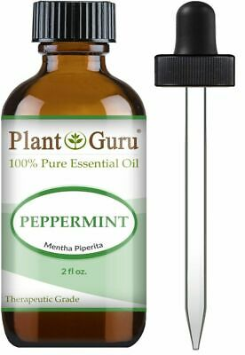 Peppermint Essential Oil 2 oz Therapeutic Grade 100% Pure For Skin Hair Diffuser