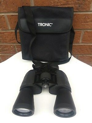 Tronic 8 X - 24 X 50 Binoculars & Carry Case With Zoom Feature & Fast Focus Vgc.
