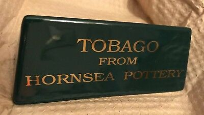 Vintage Hornsea TOBAGO Pottery Shop Display Sign Name Plaque NEW OLD STOCK