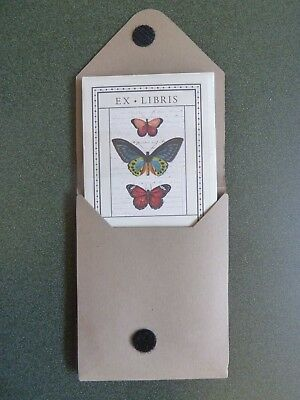 Booklplates Ex Libris Butterflies 18 Count Self-Adhesive Acid-Free by Cavallini