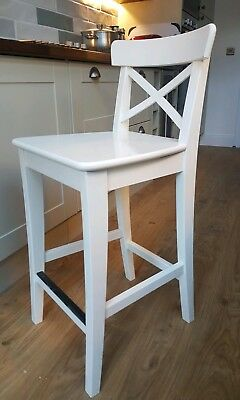 Fine Ikea Ingolf White Bar Stool Chair Good Condition Andrewgaddart Wooden Chair Designs For Living Room Andrewgaddartcom