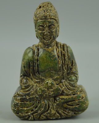 Fine Collectible Chinese Old Jade Carve Buddha Amulet Woman Pendant Rare Gift