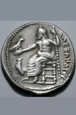 ALEXANDER THE GREAT Silver Coin 14.76 Grams 300 BC