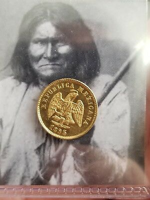 1895-Mo Mexico Gold 1 Peso Coin Low  Mintage