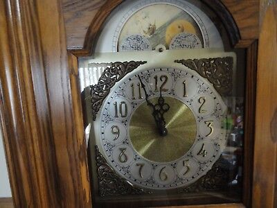 Seth Thomas Grandfather Clock Oak Moon Phase