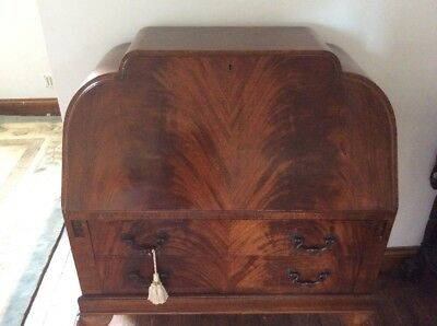 Art Deco Bureau With Ball & Claw Feet- Shabby Chic Project