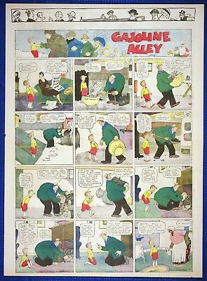 24 FRANK KING Newspaper Sunday Pages of GASOLINE ALLEY, Very Good+, 1924-1932