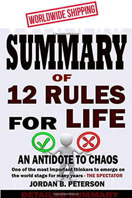 Summary 12 Rules For Life Antidote To Chaos - Jordan Peterson Peterson Paperback