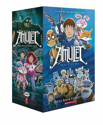 Brand New Amulet Box Set: Books 1-7 (Amulet) Graphic Novel, Paperback, FreeShip