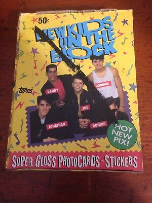New Kids On The Block 1989 Topps Trading Cards 36 Packs of 8cards+1 Sticker