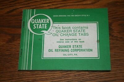 Quaker State  Oil Change Tabs Stickers