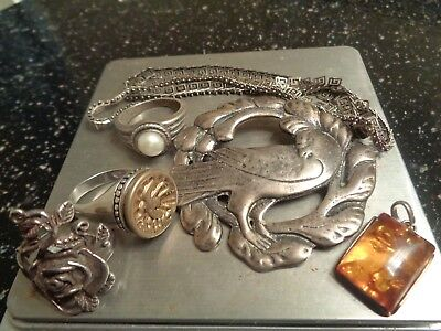 Beautiful Vintage Lot of Sterling Silver Jewelry Pieces !!!!!