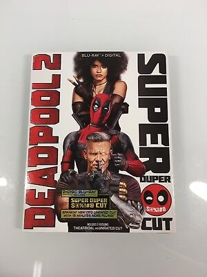 Deadpool 2 Blu Ray 2 Disc Set Includes Super Duper Cut Unrated With Slipcover