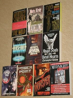 Lot of 10~VINTAGE HORROR PAPERBACKS~Stephen King+ 1980's to 1990's EXCOND!
