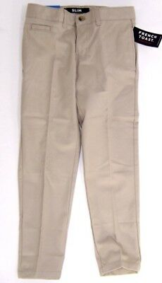 French Toast Boys School Approved Slim Fit Khaki Pants  NWT  SIze  8   Ret.$28