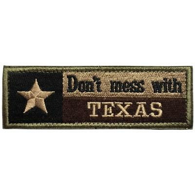Don/'t Mess With Texas Patch With Flag Iron On Patch 4 x 1.5 inch Free Ship P3220