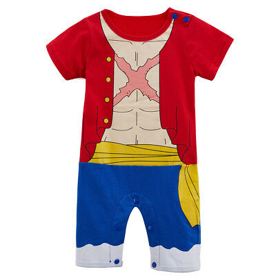 4b875acd36e9 Baby Boy One Piece Luffy Costume Romper Infant Playsuit Newborn Jumpsuit  Outfits