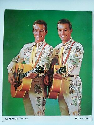 Le Garde Twins signed photo legarde twins circa 1960's