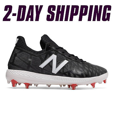 New Balance Baseball Low-Cut COMPv1 Comp Cleats Black/White -COMPBK1 *2DAY SHIP*
