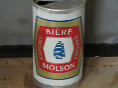 Molson Biere.   Real Beauty. Aluminum.  Canadian   Can