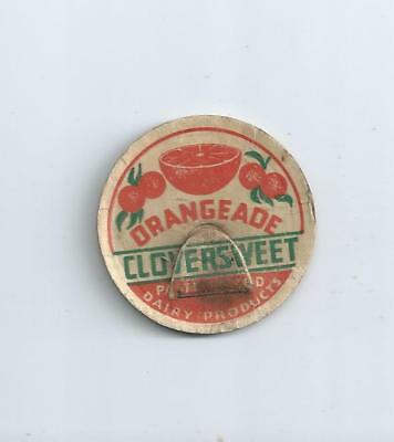 """Cloversweet Dairy Products""  Montesano, Wash.  milk bottle cap."