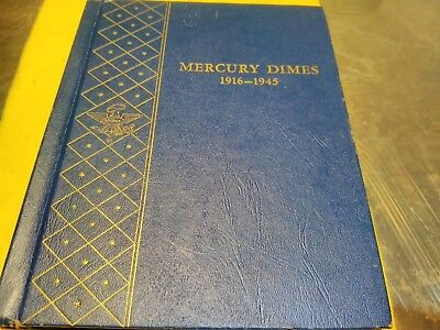 1916 - 1945 Mercury Dimel book, with 72 coins