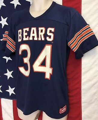 Vintage Rawlings NFL Chicago Bears WALTER PAYTON Throwback Jersey Shirt M 50/50