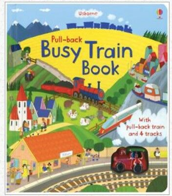 Busy Train Book: Brand New Usborne, Ages 3+ w/Toy Train