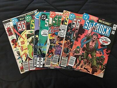 Lot of 10 Vintage Militaria Comic Books SGT ROCK - WAR IS HELL - FIGHTIN' ARMY