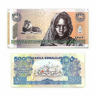 Set of 2 diff. Somaliland 1996 500 Sh. and 2006 1000 Sh. Au-Unc.