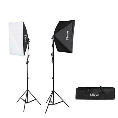 "2Pcs 20"" Large Softbox with Stand 135W Bulb Photography Photo Studio Light Kit"