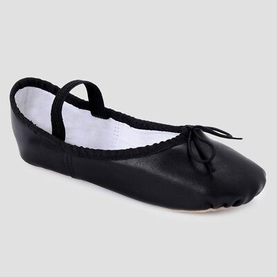 New Freestyle by Danskin Girls' Boys' Children Ballet Dance Shoes Black Size 2