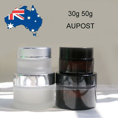30g 50g Glass Cosmetic Jars Bottles for Face Cream Homemade Lotion Cosmetic Gels