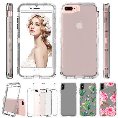 iPhone XS Max XR X 7 8 6s Plus Clear Full Shockproof Hard Case Heavy Duty Cover