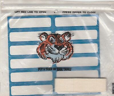 Vintage Exxon Tiger Advertising Premium,id Marking Kit.labels,iron-On Tape.rare