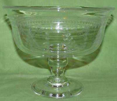 Stuart Crystal, Large Footed Bowl. Very heavy. Acid Stamp on base. Stunning Pce