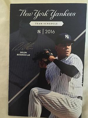 New York Yankees Team Official 2016 Pocket Schedule Dellin Betances Ny Stadium