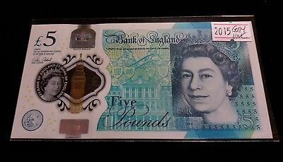 Great Britain UK 2015 £5 Pounds Polymer Banknote GEM UNC Elizabeth and Churchill